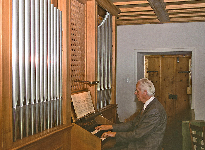 Hermann Schwander, organist / Photo: Greti Schwander