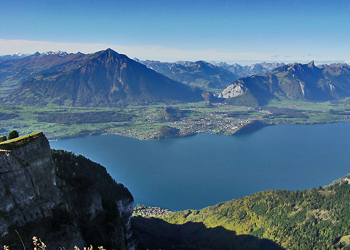 Lake Thun With Niesen Photo Fritz Bieri