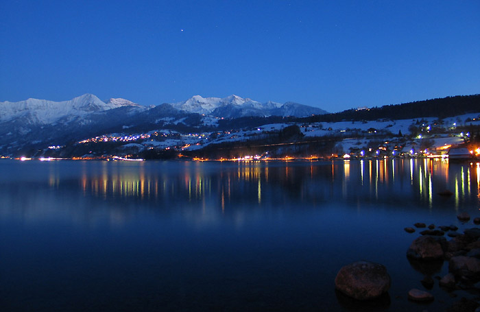 Bilder Beatenberg Berner Oberland Schweiz Thunersee Bei Nacht